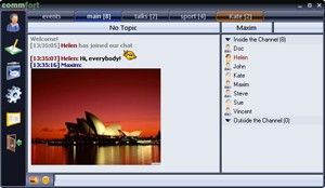 A client-server chat for LAN or Internet with video chat support easy Screen Shot